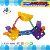 Bouwstenen van Ikebana van het Stuk speelgoed van de Desktop van kinderen de Plastic