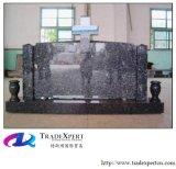 Headstone transversal de pedra do granito, lápide