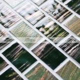 Telha de vidro de derretimento do mosaico da mistura verde no teste padrão da ligação do tijolo (BGZ018)