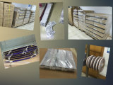 Impression sensible à la chaleur d'étiquette de rétrécissement pour l'empaquetage de pâte lisse (film de PVC/PET)