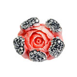 형식 Red Flower Shape Coral Bead Jewelry Accessory DIY 25*25mm