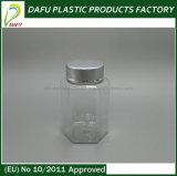 Botella hexagonal plástica del animal doméstico 100ml