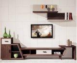 Folheado da madeira de carvalho vermelho com tevê Stand&Cabinet do MDF (TV030)