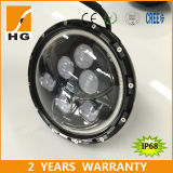 CREE LED High Low Beam Headlamp de Emark DOT Certificated 7inch con Halo para Jeep Wrangler