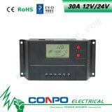 30A, 12V/24V 의 LCD 지능적인 태양 관제사