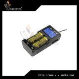 Caricatore di Xtar Vc2 con la visualizzazione dell'affissione a cristalli liquidi per la batteria 18650 26650