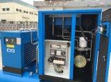 compresseur de l'air 7.5kw à vis silencieux industriel avec le réservoir d'air