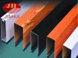 Hölzernes Korn-Furnier-Blattdekorative Metallaluminium-Decke
