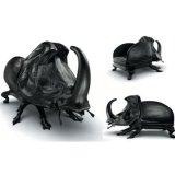 Cadeira do sofá da fibra de vidro do couro genuíno com modelo do besouro