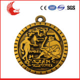 Изготовленный на заказ медаль металла высокой ранга покрынное серебром