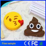 Cargador de batería móvil portable de la venta de la historieta del PVC Emoji de la batería caliente de la potencia