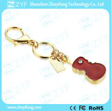 Schlüsselring-Violinen-Formrhinestone-Schmucksachen USB-Feder-Laufwerk (ZYF1904)