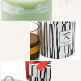 Beste Verkopende Nieuwe Ontwerp Gebemerkte Kaarsen in de Kruik van het Glas en de Met de hand gemaakte Doos van de Gift