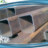 Warm gewalzte ERW geschweißte Stahlgefäß-Größen des quadratischen rechteckigen Stahlrohr-Q235