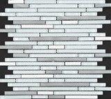 Heißer Verkaufs-Glasmischungs-Fleck-gelegentliche Streifen-Mosaik-Stahlfliese