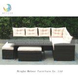 Mtc268 PEのセットを食事する屋外の家具の藤の庭のコーナーのソファー