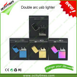 2016 nouveau Design Rechargeable USB Cigarette Lighter Wind Resistant Double Arc Lighter avec Eco-Friendly