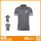 T-shirt de collet de polo du panneau des hommes