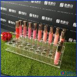 Sostenedor de acrílico del cuidado de la belleza del organizador del sostenedor del lápiz labial del lustre del labio