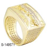 New 925 Sterling Silver Fashion Jewelry Diamond Ring para homens