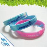 Bracelet en soie multicolore de silicones d'impression pour le cadeau d'événement