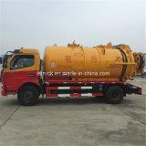 Dongfeng 4X2 5000L 진공 하수 오물 흡입 유조 트럭