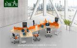 Moderner 120 Grad-Kreuz-Arbeitsplatz mit Partition-Panel