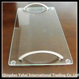 ハンドルを持つ正方形の明確な緩和されたガラスのまな板