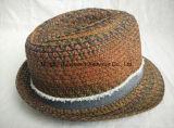 Color mezclado Cosido trenza Raw Edge Band Banda de la franja de espacio tinte Fedora sombrero de paja