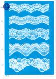 Trikot-Spitze für Kleidung/Kleid/Schuhe/Beutel/Rechtssache 3186 (Breite: 7cm)