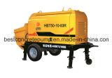 Mini bomba hidráulica concreta portátil Diesel & elétrica de Hbt50-10-83r