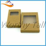 Rectángulo de papel que empaqueta, rectángulo de papel, rectángulo de la ventana de Brown de regalo de papel