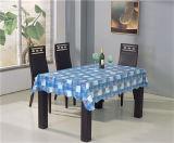 Tablecloth impresso PVC quadrado do teste padrão da forma com parte traseira