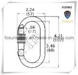 Zinco Carabiner di figura ovale 5600lbs di Lcoking della vite d'acciaio nuova