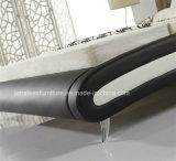 A063豪華なモデル革豪華なベッドデザイン