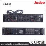 Amplificateur sonore professionnel de haut-parleur de système de son de la Manche 200With8ohm 300With4ohm de Jusbe Ka-250 4