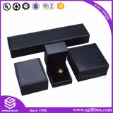 Boîte à bijoux en bois en cuir en cuir de luxe