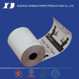 papier thermosensible de largeur de 57mm pour le roulis de papier thermosensible de caissier