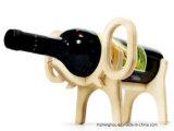 Держатель вина уникально животной формы деревянный для шкафа хранения вина
