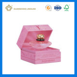 Rectángulo envuelto en papel de lujo de lujo del perfume de la cartulina (con la bandeja de la pieza inserta del satén)