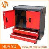Caixa de ferramentas móveis com compartimento superior e duas gavetas