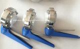 최신 판매 중국 SMS/DIN/3A/Rjt Munual 또는 압축 공기를 넣은 위생 스테인리스 나비 벨브