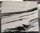 Brames de marbre blanches de panda pour des tuiles/partie supérieure du comptoir/tuiles de dessus/mur de vanité/décoration intérieure