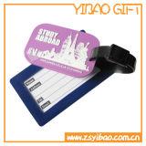 Encargo colorida etiqueta El recorrido del PVC del equipaje con la etiqueta de la etiqueta (XY-HR-87)