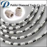 Het rubber Plastiek sinterde Marmeren Beton van het Graniet van de Zaag van de Draad van de Diamant van Parels het Scherpe