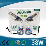 Hohe eindeutige Farben des Lumen-4000lm gelb/blauer/weißer Scheinwerfer des Auto-H4 LED