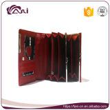 Бумажник с владельца карточки, бумажник кожи способа Fani монетной щели, девушка бумажника