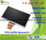 """étalage de TFT LCD de 7.0 """" 1024X600 RVB, 50pin pour la position, sonnette, médicale, véhicules"""