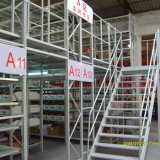 Plataforma de acero levantada estante del almacenaje del almacén