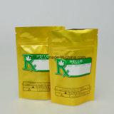Kundenspezifisches Fastfood- Beutel-goldenes Drucken-Fastfood- Plastiktasche mit Reißverschluss